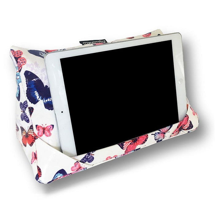 Coz-E-Reader Huggable Tablet Stand - Wipe Clean Butterfly Print