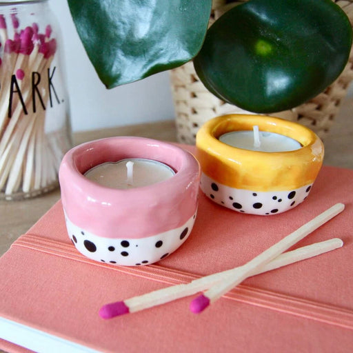 Handmade Clay Tealight Holders