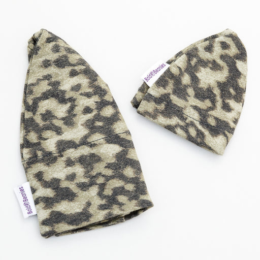 Boy's Liberty Print Khaki Camo Bold Beanie + Teddy Beanie (Various Sizes)