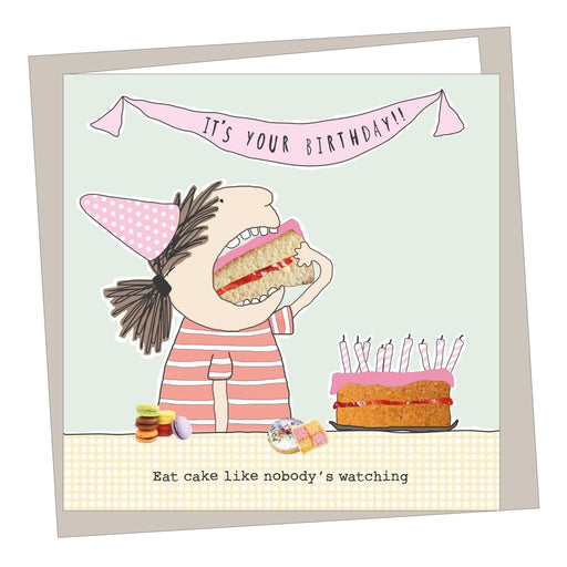 'Eat Cake' Birthday Card