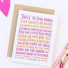 'Friendship Through Cancer' Empathy Card