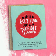 Empathy cards by emily mcdowell not another bunch of flowers gods plan empathy card m4hsunfo