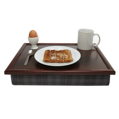 Grey Granite Tartan Lap Tray
