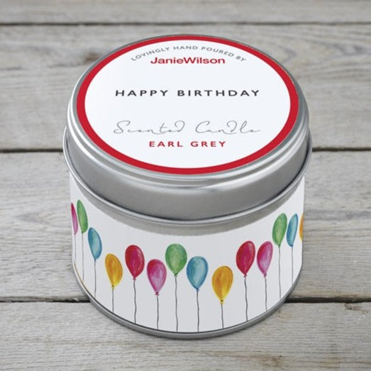 Happy Birthday Balloon Scented Candle