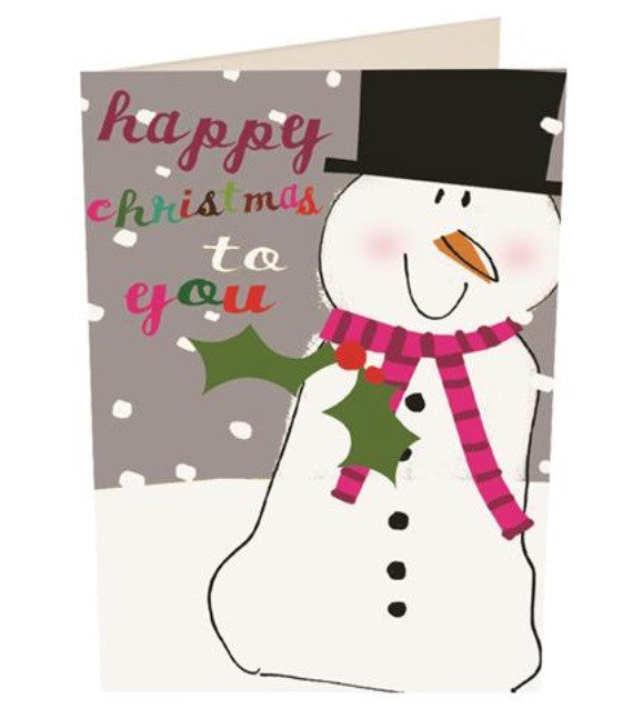 'Happy Christmas To You Snowman' Christmas Card