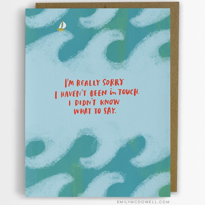 'I Didn't Know What To Say' Empathy Card