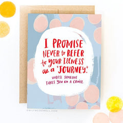 'Illness Is Not A Journey' Empathy Card