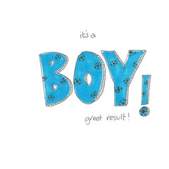 It's A Boy Great Result! New Baby Card
