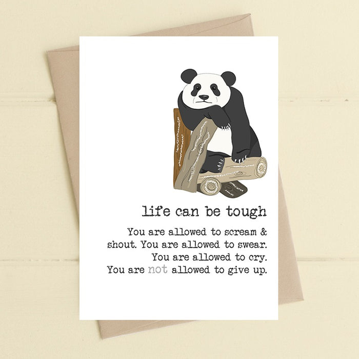"""Life Can Be Tough"" Card"
