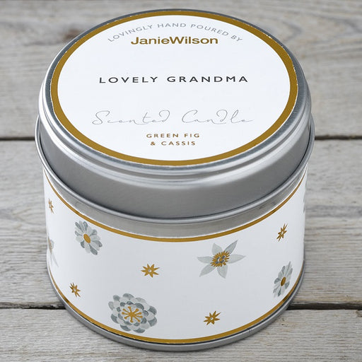 Lovely Grandma Green Fig & Cassis Scented Candle Tin