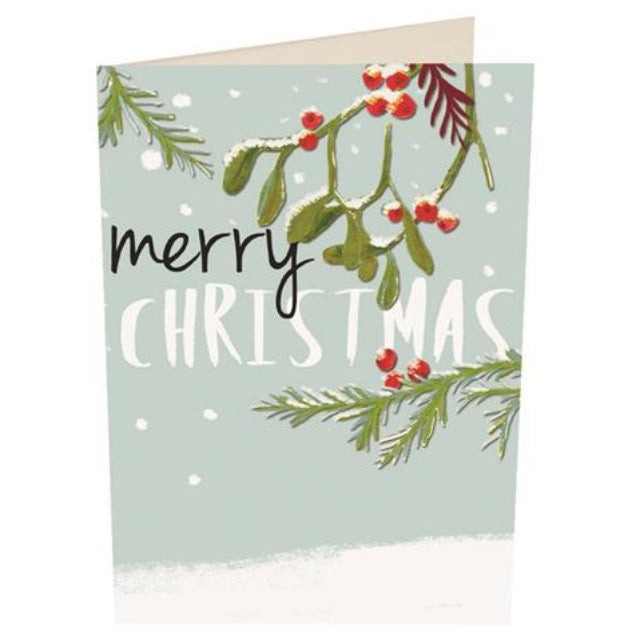 'Merry Christmas Holly' Christmas Card