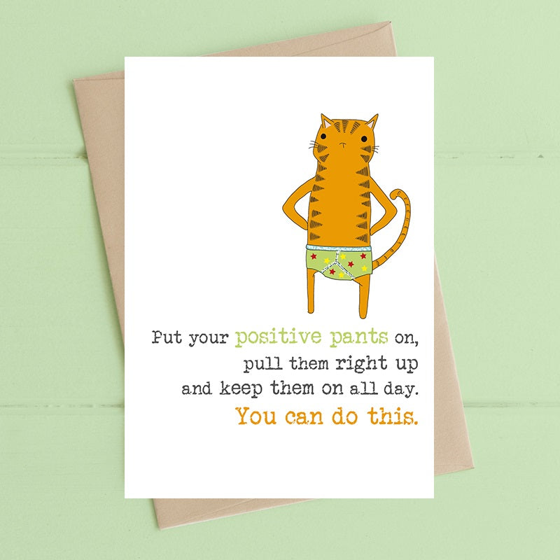 """Positive Pants"" Card"