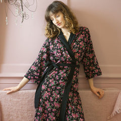Rambling Rose Cotton Kimono (Various Colours)