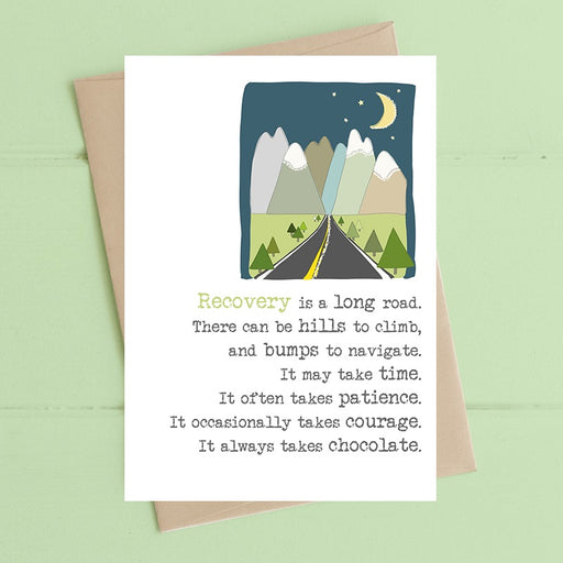 """Recovery Is A Long Road"" Card"