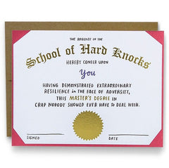 'School Of Hard Knocks' Empathy Card