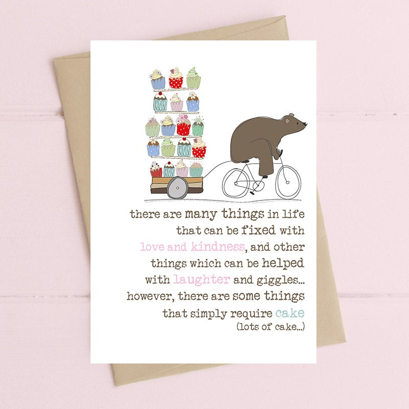 """Some Things Simply Require Cake"" Card"