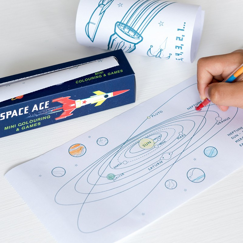 Space Age Mini Colouring And Games