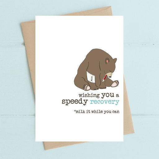 """Speedy Recovery"" Card"