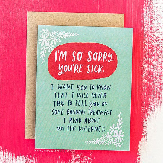 'Treatment On The Internet' Empathy Card