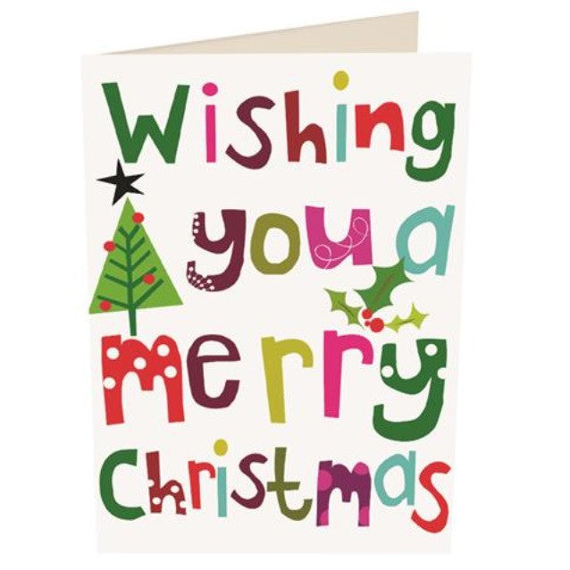 'Wishing You A Merry Christmas' Christmas Card