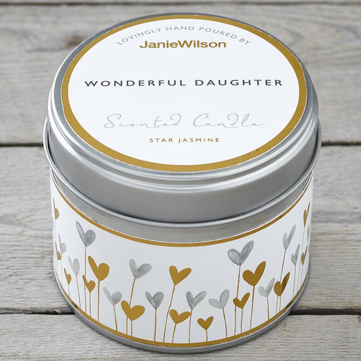 Wonderful Daughter Star Jasmine Scented Candle Tin