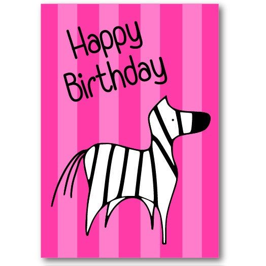 """Zebra"" Happy Birthday Card"