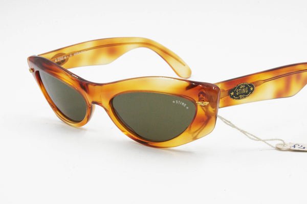 2baf176da75f Vintage cat eye wrapping made in Italy STING mod. 328 uncommon crazy ...