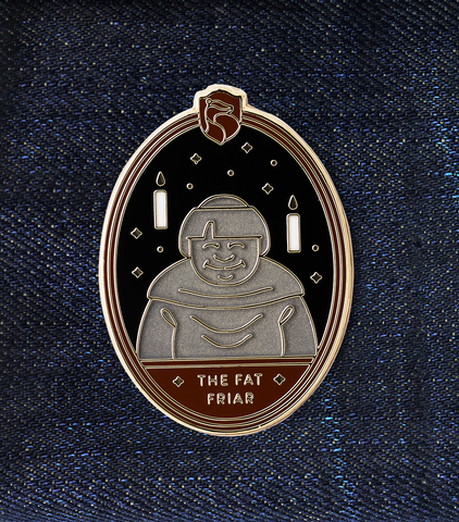 The Fat Friar Enamel Pin