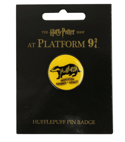 Hufflepuff House Traits Pin Badge