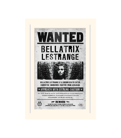 Bellatrix Wanted Poster Print