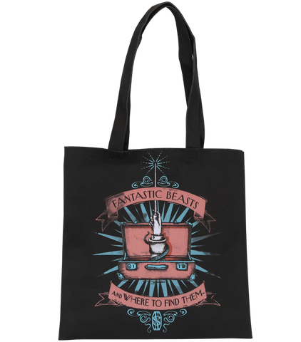 Black Suitcase And Wand Tote bag