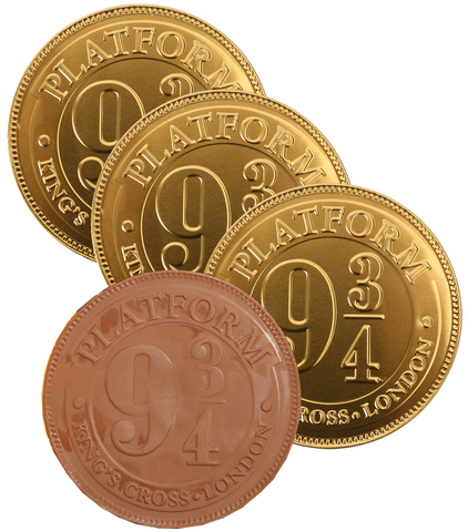 Platform 9 3/4 Milk Chocolate Coin - 3 Pack