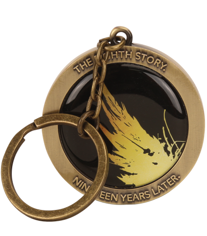 Harry Potter and the Cursed Child Black Embossed Keyring