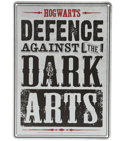 Defence Against The Dark Arts Wall Sign Harry Potter Shop