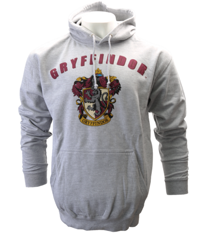 Grey Gryffindor Crest Hooded Jumper