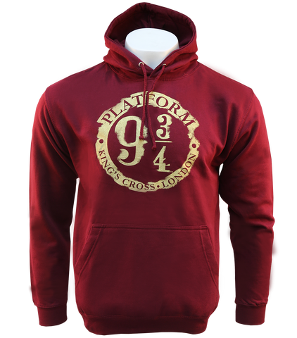 Distressed Platform 9 3/4 Hooded Jumper
