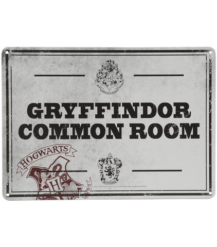 Gryffindor Common Room Wall Sign