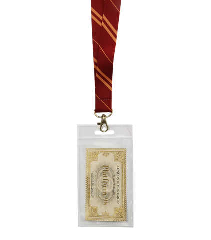 Gryffindor House Tie Lanyard & Ticket
