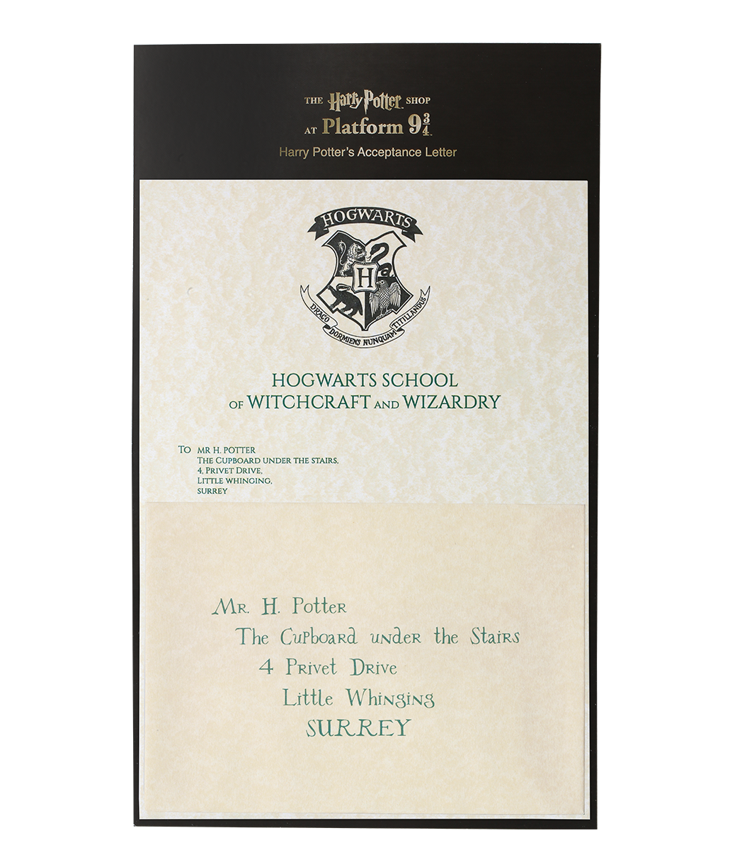 Harry Potters Hogwarts Acceptance Letter Harry Potter Letter