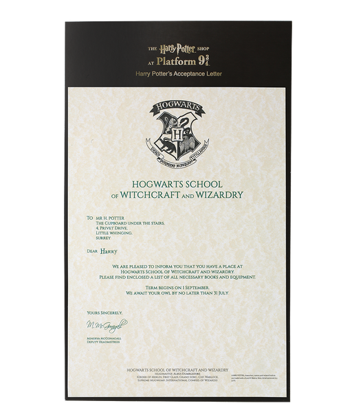 harry potter letter 2 harry potter s hogwarts acceptance letter harry potter shop 1276