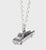 Sterling Sliver FORD ANGLIA FLYING CAR Necklace