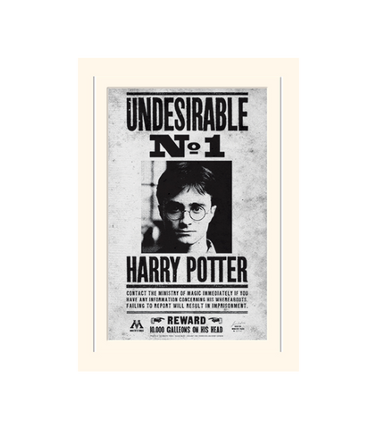 photo regarding Harry Potter Wanted Poster Printable referred to as Harry Potter Negative No. 1 Print