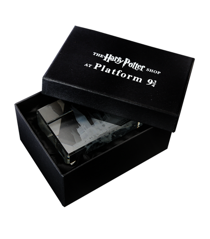 Hogwarts School of Witchcraft and Wizardry Glass Paperweight