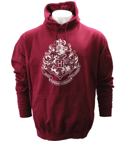 Burgundy Hogwarts Crest Hooded Jumper