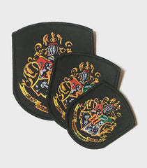 Set of Hogwarts Embroidered Crest Patches