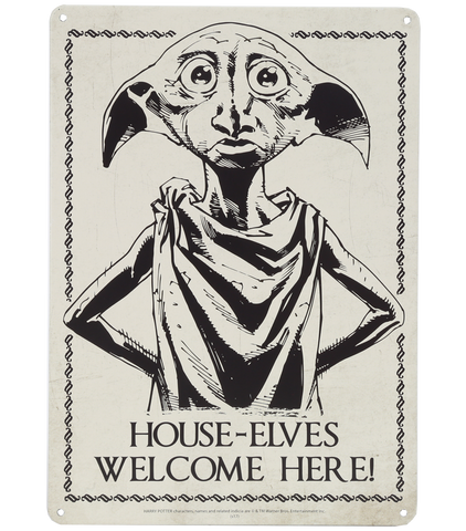 House-Elves Welcome Here! Wall Sign