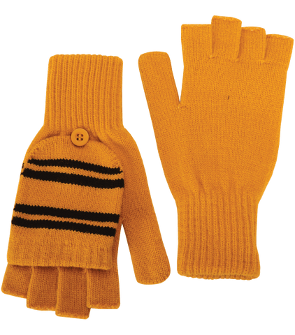 Hufflepuff Knitted Mitten Capped Gloves