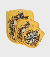 Set of Hufflepuff Embroidered Crest Patches