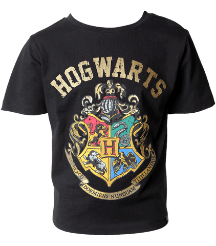 Kids Hogwarts Crest Black T-Shirt
