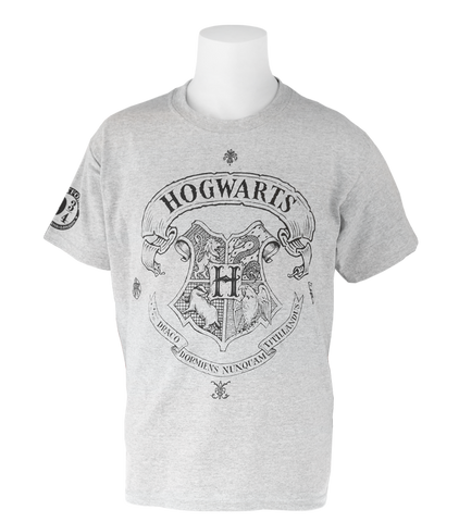 Hogwarts Crest Grey T-Shirt - Kids